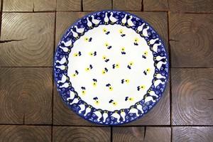 ポーランド食器 ポーリッシュポタリー プレートS ケーキプレート 17cm 花柄/ガチョウ