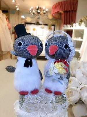 マリアベールペングリン ペア ぬいぐるみ 結婚祝い プレゼント ウェルカムドール