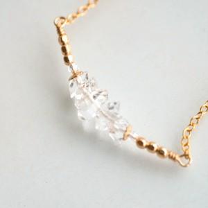 ハーキマーダイヤモンド スワロフスキー K14gf ネックレス