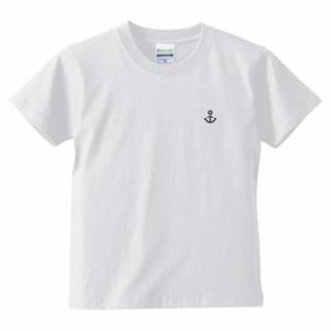 〚KIDS〛5.6oz. ハイクオリティーTシャツ KOBEイカリマーク_ホワイト