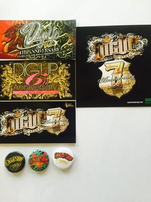 DIG UP OSAKA 周年 グッズセット(缶バッチ&ステッカー)