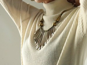 Vintage  ethnic motif necklace