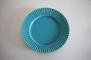 うつわうたたね|リムしのぎトルコブルー皿