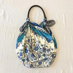 スカーフバッグ manipuri風 blue  縫製無しタイプ