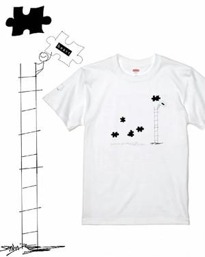 【puzzle】ホワイト Tシャツ