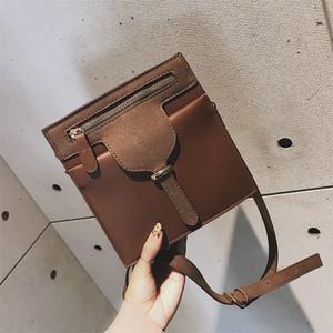 【特集】ファッション無地ファスナー肩掛けバッグ