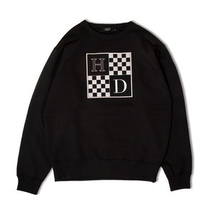 Checkered Crewneck Sweatshirt (Black)