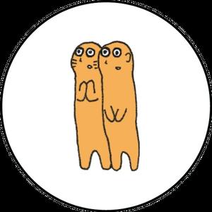 ミニ缶バッジ(ミーアキャット&プレーリードック)