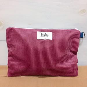 【受注生産】Corduroy clutch bag - Pink ※発送はお支払後2~3週間程度