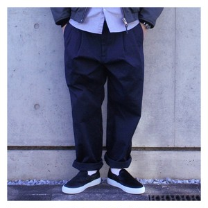 is-ness AH EDITORIAL WIDE 2TUCK CHINO PANTS
