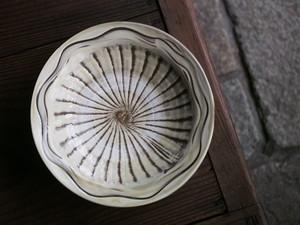 小鹿田焼 坂本義孝窯 7.5寸平皿