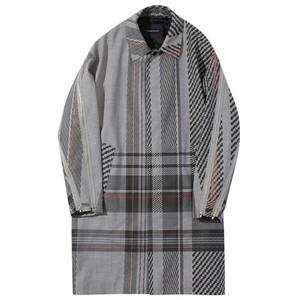 ALMOSTBLACK 18SS Balmacaan Coat (tartan)
