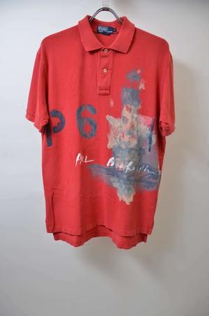 【Mサイズ】 RL ラルフローレン PRINT POLO SHIRT プリント ポロシャツ RED レッド 400603190604