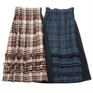【予約】flannel asymmetry skirt