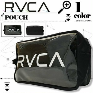 AJ041-M91 ルーカ レディース ポーチ 新作 人気ブランド おしゃれ プレゼント 透明 クリア ブラック RVCA CLEAR POUCH