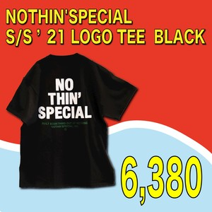 NOTHIN'SPECIAL / S/S '21 LOGO TEE  BLACK