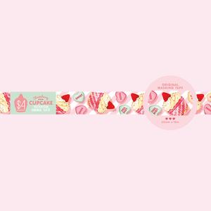 ストロベリーカップケーキ - マスキングテープ