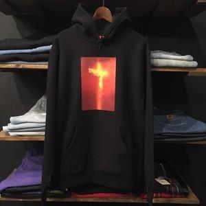 【SUPREME×ANDRES SERRANO】-シュプリーム-FW17 PISS CHRIST HOODED SWEAT SHIRT BLACK