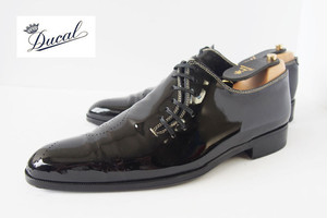 【Sold Out】【中古】デュカル|Ducal|パテントレザーサイドレースシューズ|ト音記号|坂本龍一|39