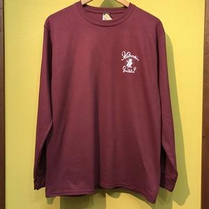 Script Long T-shirt / Burgundy (K-LTS011/BRG)