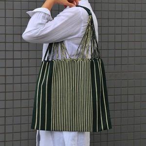 メキシコ織物バッグ(ストライプ柄)F