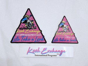 """Kook exchange """"2 x 1 Offroad Express Club Patch & Sticker combo"""""""
