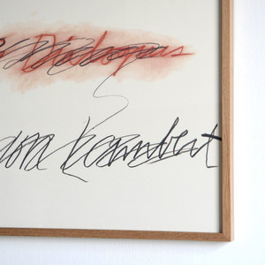 Cy Twombly / Three Dialogues 2 / 1977  額装済