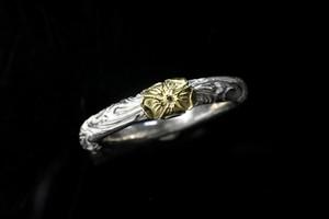 Love rose round karakusa ring