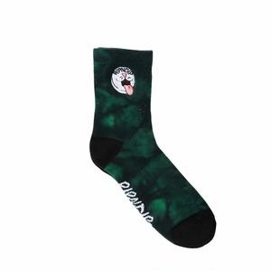 RIPNDIP - Pill Mid Socks (Green Spiral Tie Dye)