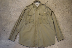 USED 00s Columbia PFG fishing L/S shirt -Large S0573