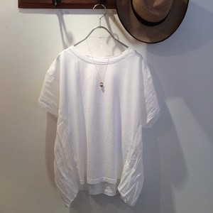 MIX MATERIAL BLOUSE