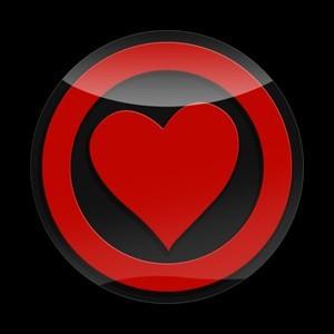 3Dゴーバッジ 13番 HEART RED