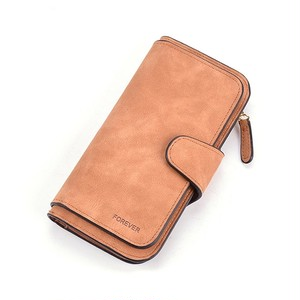 Wallet Scrub Leather Clutch Wallet Long Wallet ロング レザー フェミニン 財布 パスケース ウォレット (HF99-9058064)