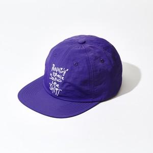 Running 100mile Sound Like SHIT - フラットバイザーキャップ (Purple)