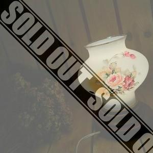 80'sヴィンテージ*明和陶芸*古いミルクガラスシェードウッドスタンドライト*硝子×木*手描きフラワー花絵ランプ照明アンティークビンテージ