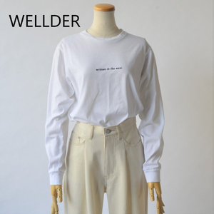 WELLDER/ウエルダー・Regular fit long sleeve tee written in the west