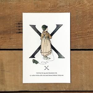 ポストカード「X(王子たちの花文字 - 24)」