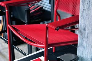 赤い椅子 カッシーナ・イクスシー・アリアススパゲッティ アームチェア 109  ジャンドメニコ・ベロッティCassina IXC・Alias SPAGHETTI ARMCHAIR 109  GIANDOMENICO BELOTTI