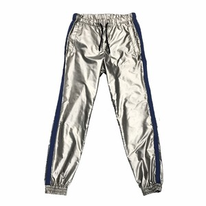 AVALONE AW17 SILVER NYLON TRACK PANTS