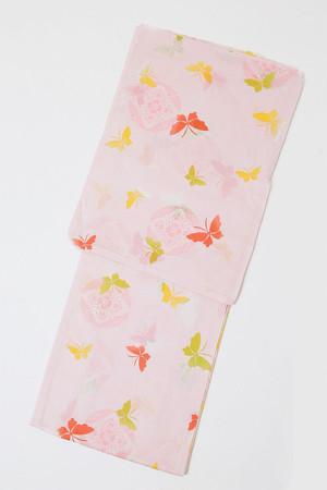 セール浴衣SALEITEM レディース浴衣 仕立て上がり 旧作 単品 ピンク 蝶