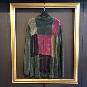 green design mole yarn knit [B1639]