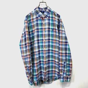 【Ralph Lauren】Check long-sleeved shirt
