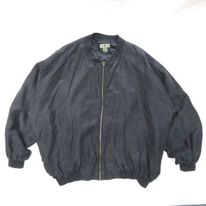 90's SILK ZIP JACKET BLACK