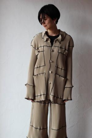 【kotohayokozawa】pleats jacket-beige
