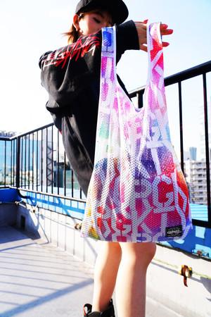Rakugaki Mesh SHOPPING BAG Multi Color