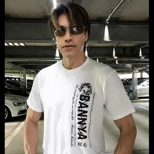 """BANNYA-般""""若-Tシャツ(丸ネック白)"""