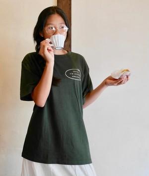 BIGサイズ追加復活★「ごめんあそばせ。私、もうすでに素晴らしいから。」そっと呟く強気なセリフ★フォレストカラーTシャツ