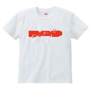 P.O.PロゴTシャツ 2017SUMMER(ホワイト / レッド)