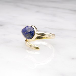 SINGLE STONE OPEN RING GOLD 019