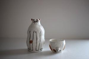 室井雑貨屋(室井夏実)|徳利とお猪口の変身セット 猫犬